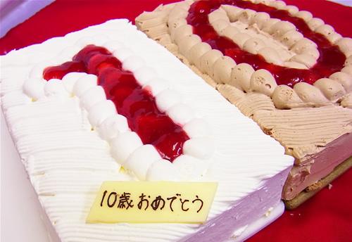 数字のデコレーションケーキ 約22cm×14cm