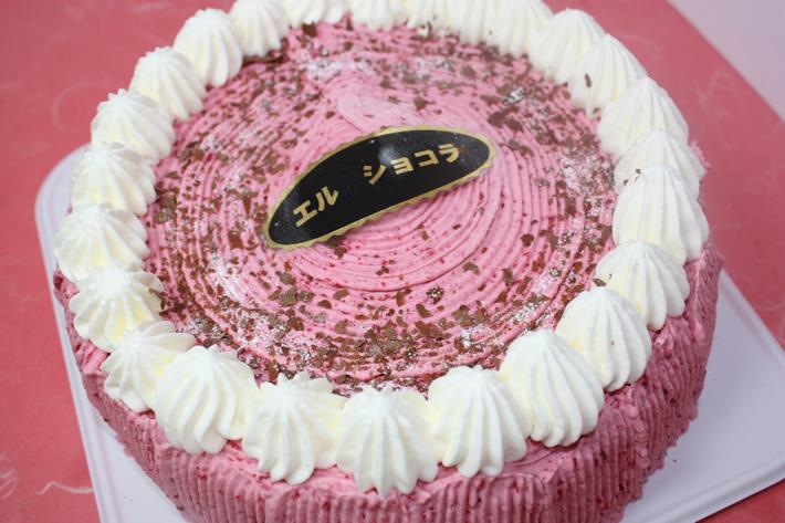 【2016年12月24日配送不可】ラズベリーショコラ 5号【バースデーケーキ 誕生日ケーキ デコ   バースディ】の画像1枚目