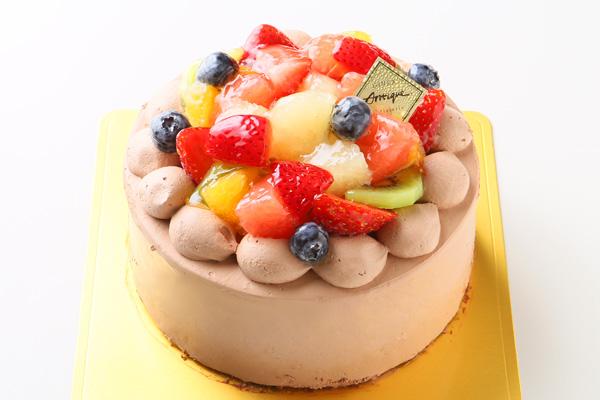フルーツ生チョコデコレーションケーキ