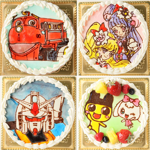 キャラ2体まで 生クリームキャラクターケーキ 5号 15cm