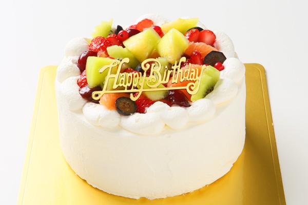 希少糖(レアシュガー)を使ったフルーツデコレーションケーキ 5号 15cmの画像1枚目