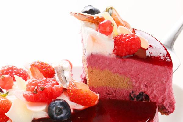 カシスとミルクチョコレートのアイスケーキ 5号 15cmの画像3枚目