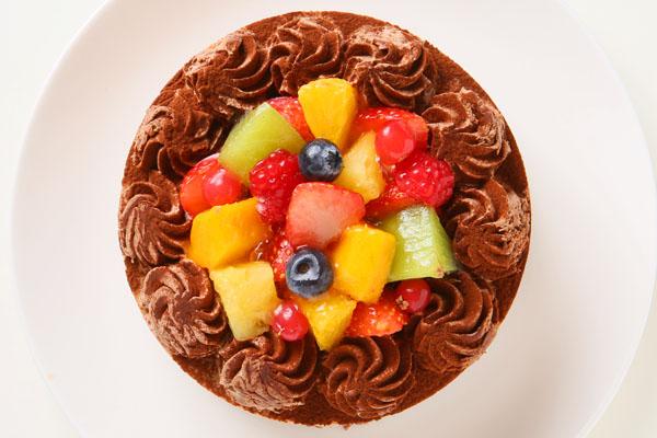 たっぷりフルーツとチョコレートのアイスケー キ 5号 15cmの画像2枚目