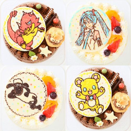 【1日限定2台!】キャラクタープレートケーキ 4号(1体のみ)