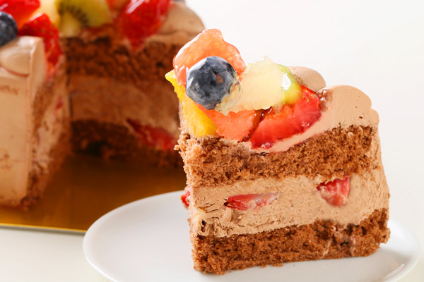 フルーツ生チョコデコレーションケーキ5号(15cm)の画像5枚目