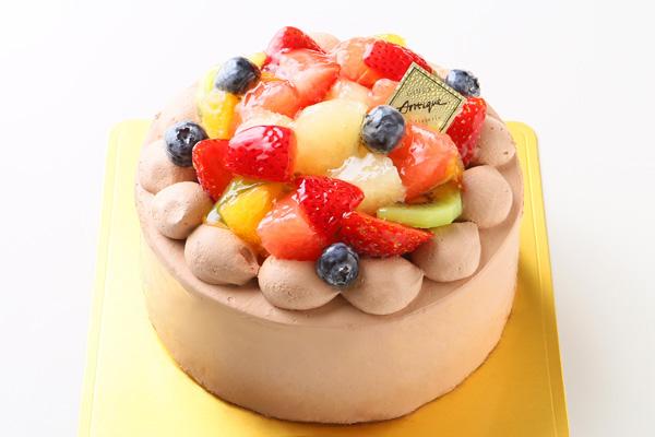 フルーツ生チョコデコレーションケーキ4号(12cm)