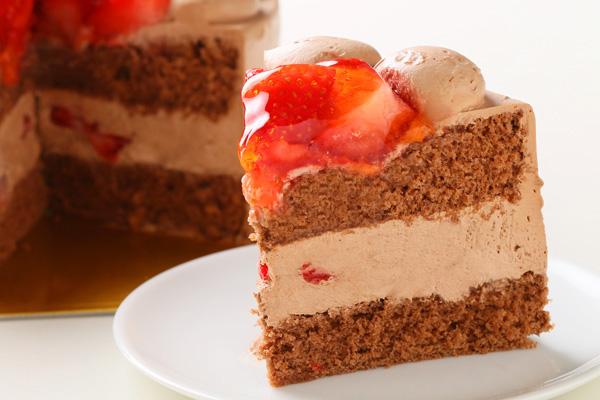 生チョコ苺盛りデコレーションケーキ 4号 12cmの画像5枚目