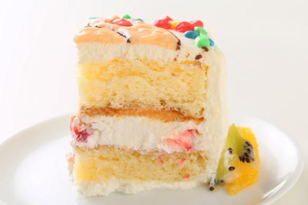 イラスト1体のみ イラストデコレーションケーキスクエア型 5号 15cmの画像7枚目