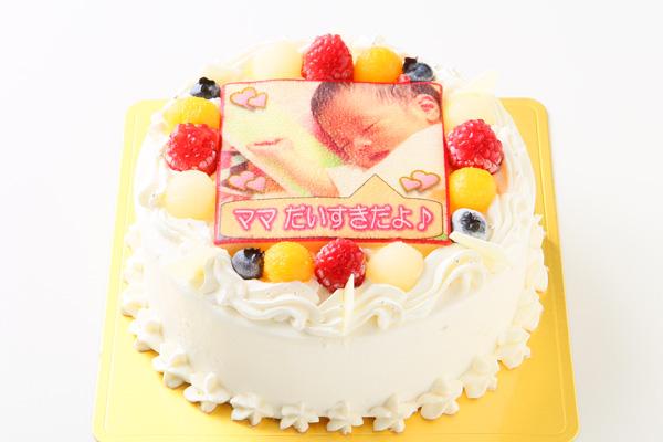 【メッセージが入る写真ケーキ】5号(直径15cm)の画像2枚目