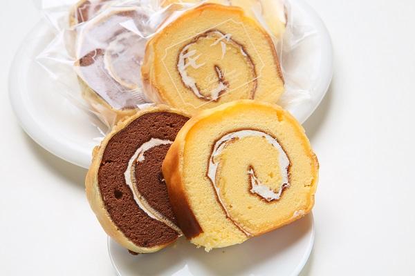 バターロールケーキ12個入(カットタイプ・バニラ&ココア)の画像2枚目
