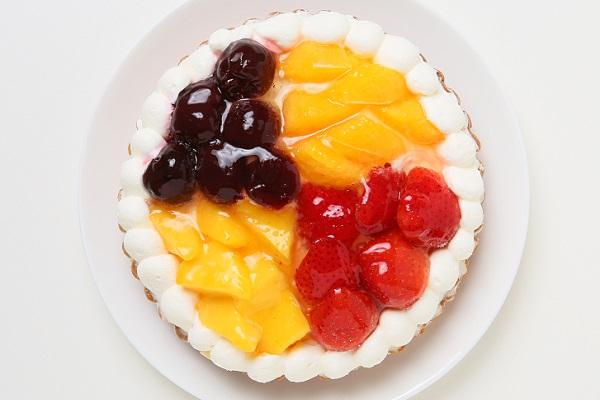 4種のフルーツタルト いちご・オレンジ・ダークチェリー・マンゴー 5号 15cmの画像2枚目