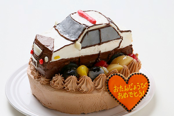 土台あり立体乗り物ケーキ5号の画像3枚目
