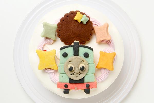卵除去 【イラスト1体顔のみ】国産小麦粉使用 キャラクタークッキーのデコレーションケーキ4号 12cmの画像2枚目