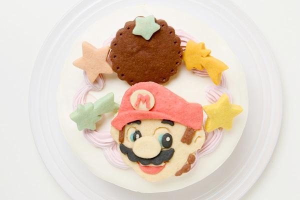 卵除去 【イラスト1体顔のみ】国産小麦粉使用 キャラクタークッキーのデコレーションケーキ4号 12cmの画像3枚目
