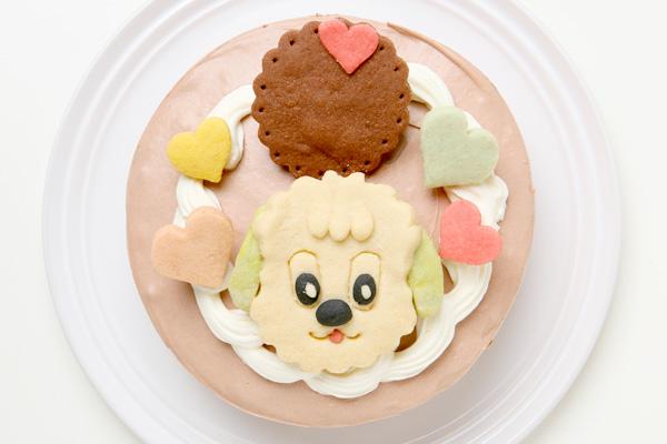 卵除去 【イラスト1体顔のみ】国産小麦粉使用 キャラクタークッキーのデコレーションケーキ4号 12cmの画像4枚目