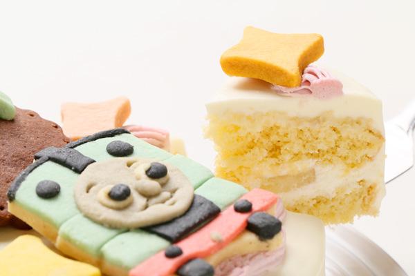 卵除去 【イラスト1体顔のみ】国産小麦粉使用 キャラクタークッキーのデコレーションケーキ4号 12cmの画像7枚目