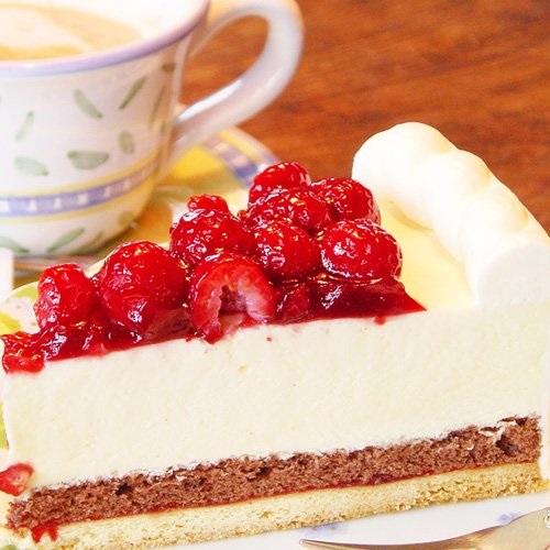 最高級洋菓子 シュス木苺レアチーズケーキ 12cmの画像3枚目