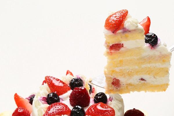 2段のケーキ  (上段:直径 約9cm / 下段:直径 約15cm)の画像3枚目