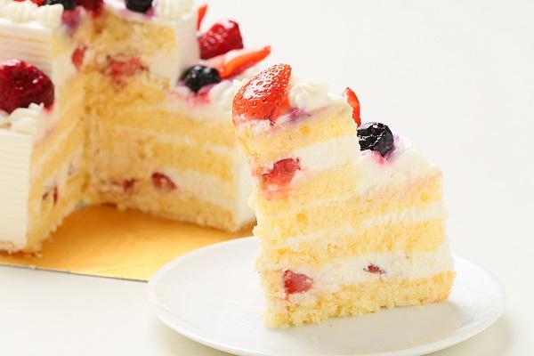 2段のケーキ  (上段:直径 約9cm / 下段:直径 約15cm)の画像5枚目