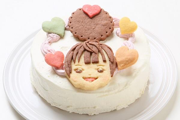 卵・乳製品除去 似顔絵クッキーのデコレーションケーキ 4号 12cmの画像2枚目