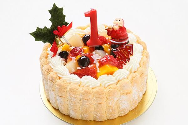 【クリスマスケーキ2016 12月1日〜お届け可能】ファーストバースデー フルーツケーキ3号(ヨーグルト)