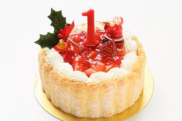 【クリスマスケーキ2016 12月1日〜お届け可能】ファーストバースデー イチゴケーキ3号(ヨーグルト)