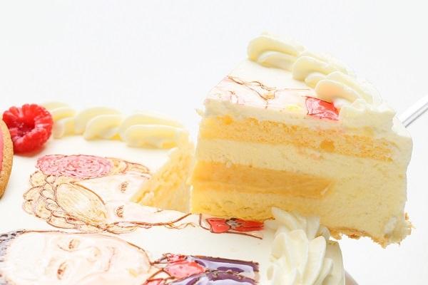 似顔絵ケーキ レアチーズケーキ 5号 15cmの画像3枚目