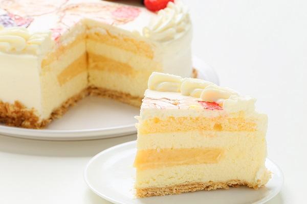 似顔絵ケーキ レアチーズケーキ 5号 15cmの画像5枚目