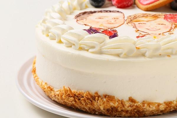 似顔絵ケーキ レアチーズケーキ 5号 15cmの画像6枚目