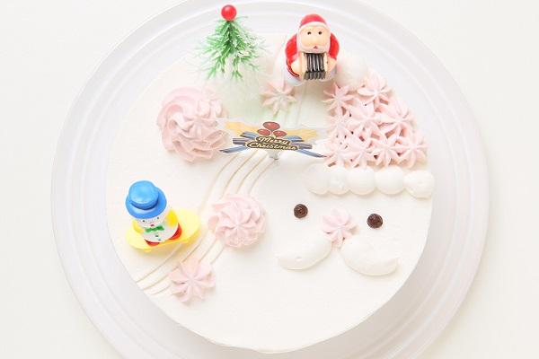 【クリスマスケーキ2016】卵・乳製品・小麦粉除去 クリスマス限定 クリスマスクリームホールケーキ15cm