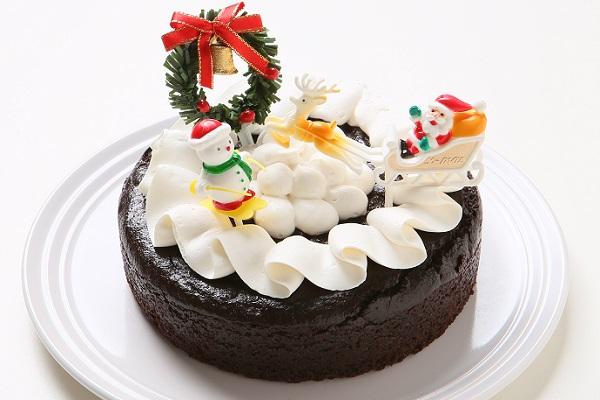 【クリスマスケーキ2016】卵・乳製品・小麦粉除去 クリスマス限定クリスマスチョコレートホールケーキ15cm
