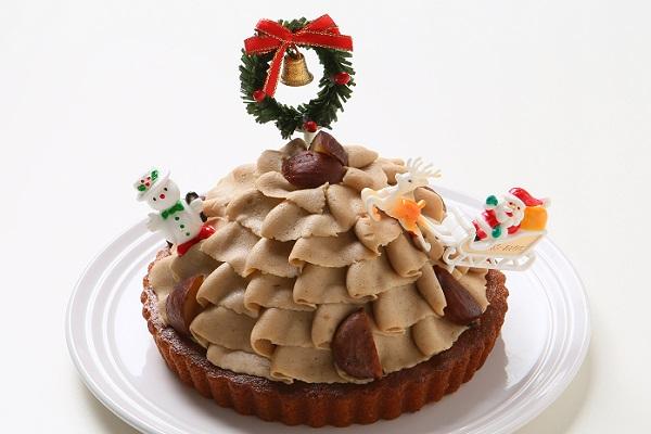 【クリスマスケーキ2016】卵・乳製品・小麦粉除去 クリスマス限定 クリスマスマロンタルト15cm