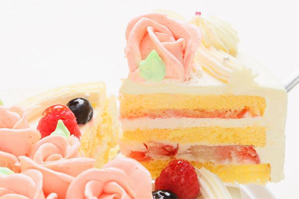 バラのショートケーキ4号の画像3枚目