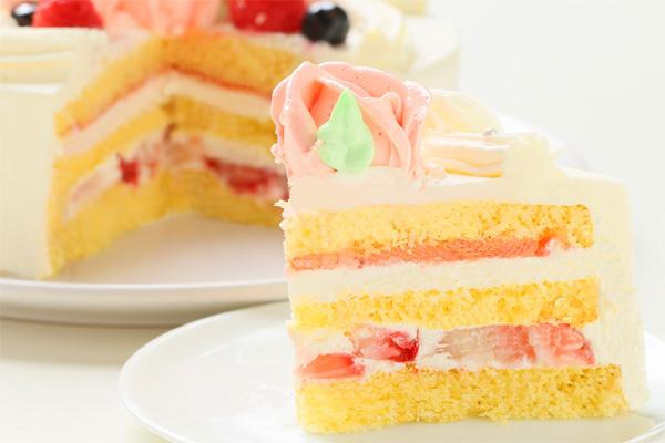 バラのショートケーキ4号の画像5枚目