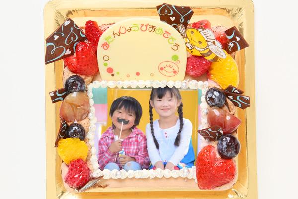 生チョコフォトケーキ 13cm角