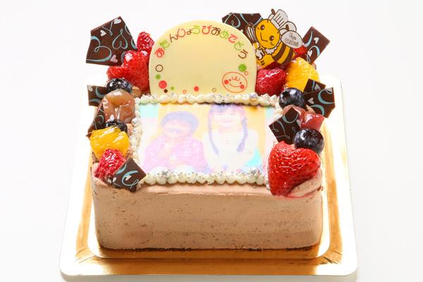 生チョコフォトケーキ 13cm角の画像2枚目