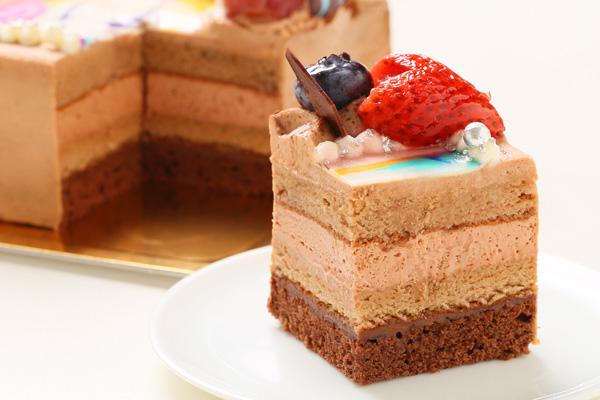 生チョコフォトケーキ 13cm角の画像5枚目