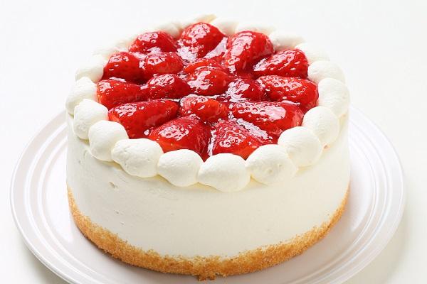 生クリーム苺ケーキ 4号 12cm