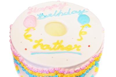 誕生日ケーキには柔らかシフォンケーキを