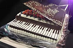 グラントピアノデコレーション 30cm角(グランドピアノ型のため一部スペースがございます)
