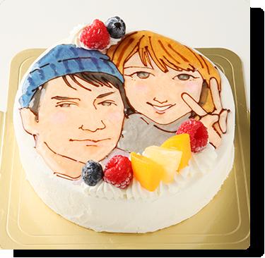 似顔絵デコレーションケーキ