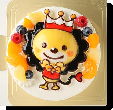 プーレの写真ケーキ