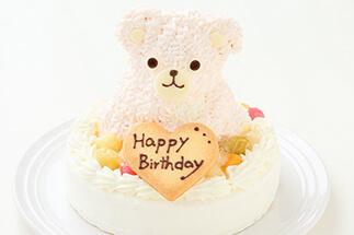 土台型 くまちゃんデコレーションケーキ ピンク ¥4,500