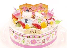 キティーちゃんひな祭りケーキ(卵不使用)