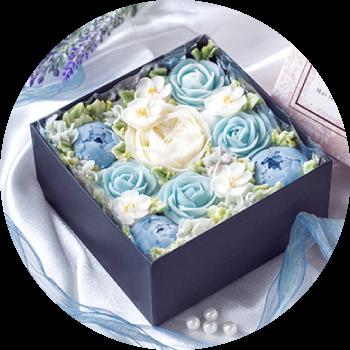 オリジナルボックスフラワーケーキ