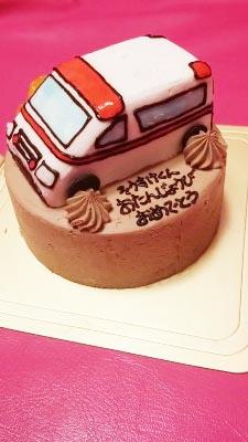 ありがとうの声乗り物の誕生日ケーキで子供も大人も大喜び Cakejp