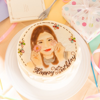 似顔絵イラストケーキ