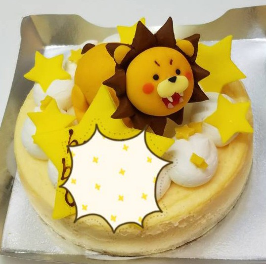立体チョコ人形【手作り】付きチーズケーキ 5号 15cmの画像6枚目