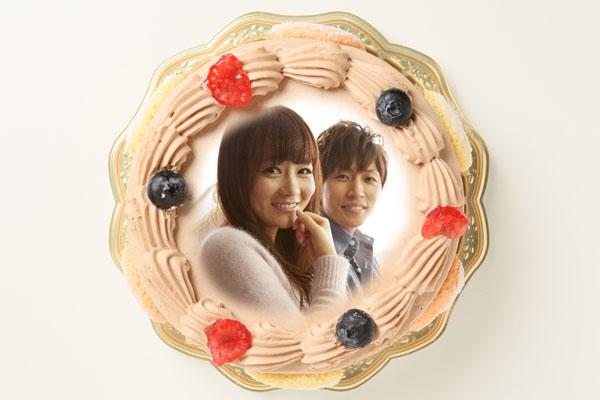 写真ケーキ 生チョコクリームタイプ 5号 15cm