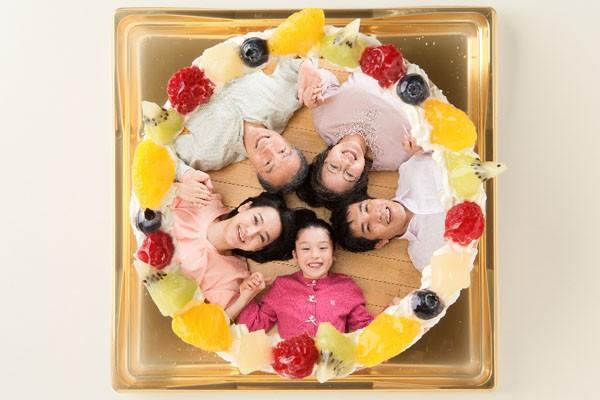 アイスのフォトケーキ イチゴ×バニラ、チョコ×バニラ 5号 15cm
